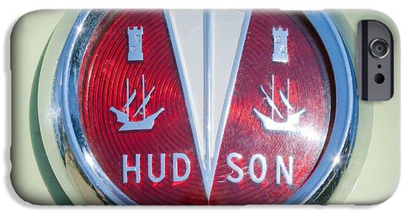 Station Wagon iPhone Cases - 1956 Hudson Rambler Station Wagon Hood Ornament - Emblem iPhone Case by Jill Reger