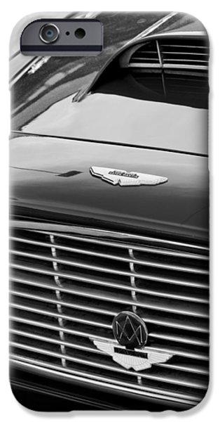 1960 Aston Martin Db4 Grille Emblem iPhone Case by Jill Reger