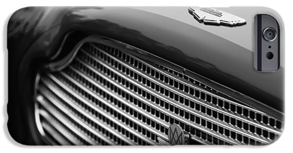 1960 iPhone Cases - 1960 Aston Martin DB4 GT Coupe Grille Emblem iPhone Case by Jill Reger