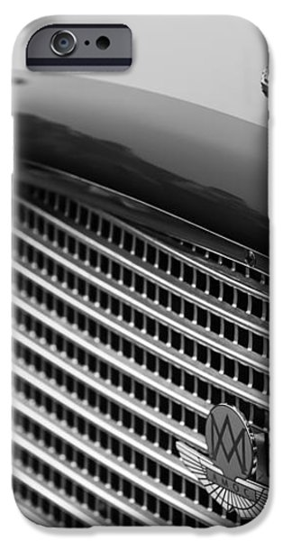 1960 Aston Martin DB4 GT Coupe' Grille Emblem iPhone Case by Jill Reger