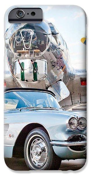 1960 Chevrolet Corvette iPhone Case by Jill Reger