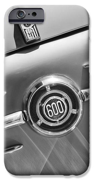 1960 Fiat 600 Jolly Emblem iPhone Case by Jill Reger