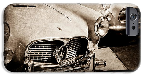 1960 iPhone Cases - 1960 Maserati Grille Emblem iPhone Case by Jill Reger