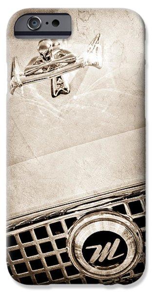 1960 Nash Metropolitan Hood Ornament - Grille Emblem iPhone Case by Jill Reger