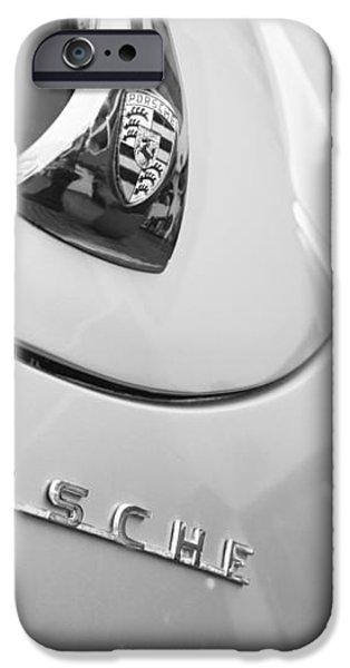 1960 Porsche 356 B 1600 Super Roadster Hood Emblem iPhone Case by Jill Reger