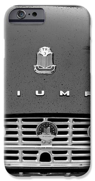 1960 Triumph TR 3 Grille Emblems iPhone Case by Jill Reger