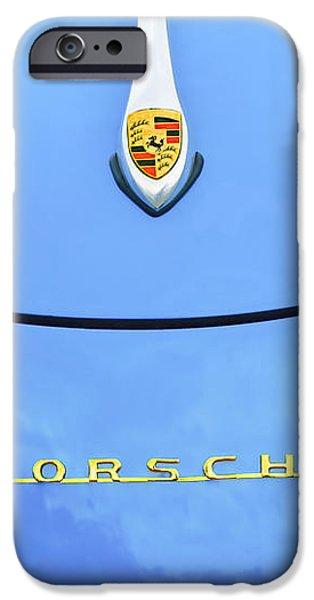 1960 Volkswagen VW Porsche 356 Carrera GS-GT Replica Hood Ornament iPhone Case by Jill Reger