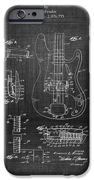 Lute Digital Art iPhone Cases - 1961 Fender Guitar iPhone Case by Michael Braham