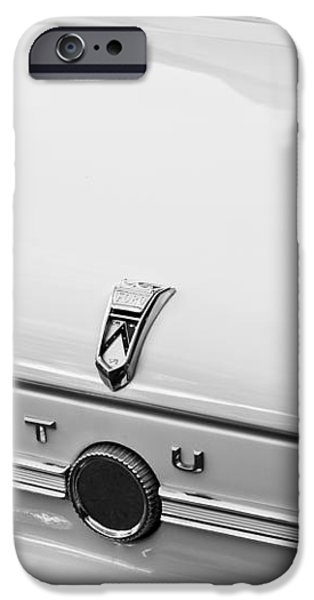 1963 Ford Falcon Futura Convertible  Rear Emblem iPhone Case by Jill Reger