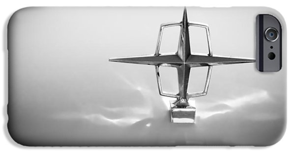 Lincoln iPhone Cases - 1963 Lincoln Continental Hood Ornament iPhone Case by Jill Reger