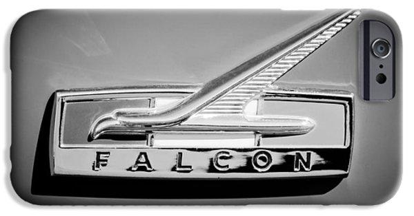 1964 Falcon Emblem iPhone Cases - 1964 Ford Falcon Emblem iPhone Case by Jill Reger