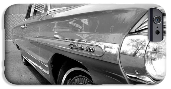 1964 Ford Emblem iPhone Cases - 1964 Ford Galaxie 500 Convertible iPhone Case by Michael Braham