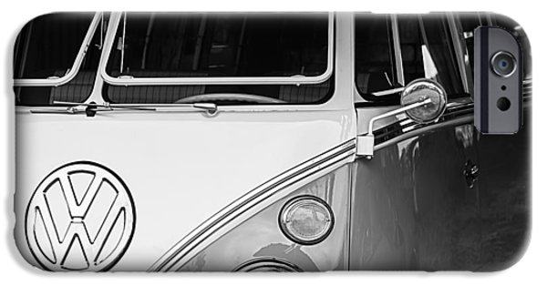 Bus Photographs iPhone Cases - 1964 Volkswagen VW Samba 21 Window Bus iPhone Case by Jill Reger