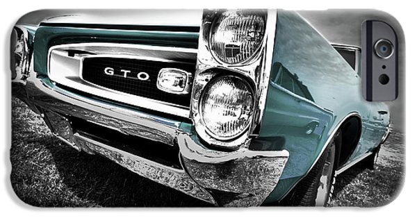 Indy Car iPhone Cases - 1966 Pontiac GTO iPhone Case by Gordon Dean II