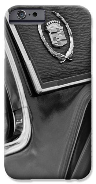 1969 Cadillac Eldorado Emblem iPhone Case by Jill Reger
