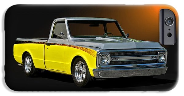Slam Photographs iPhone Cases - 1969 Chevrolet C10 Pick Up iPhone Case by Dave Koontz