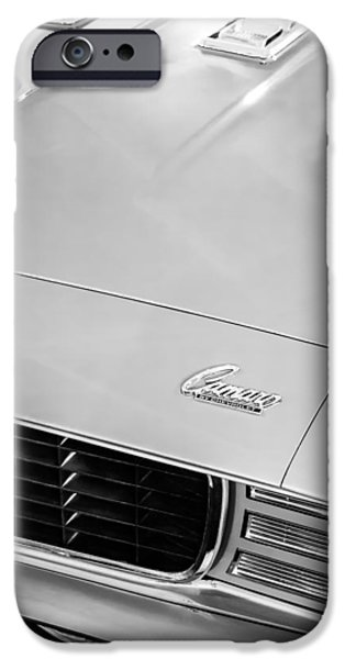 1969 iPhone Cases - 1969 Chevrolet Camaro 396 RS SS L89 Hood Emblem iPhone Case by Jill Reger