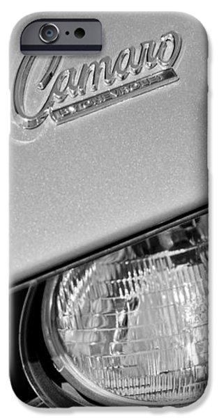 1969 Chevrolet Camaro Headlight Emblem iPhone Case by Jill Reger