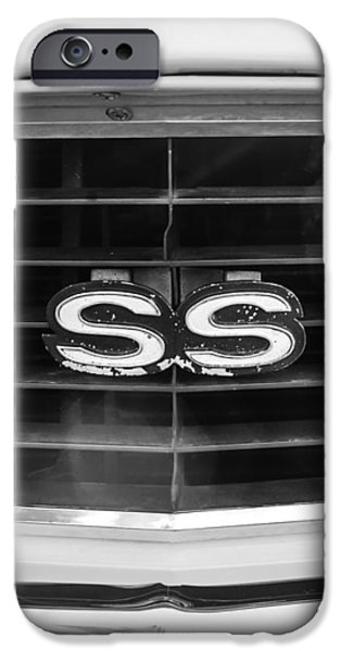 1969 Chevrolet Camaro RS-SS Indy Pace Car Replica Grille Emblem iPhone Case by Jill Reger