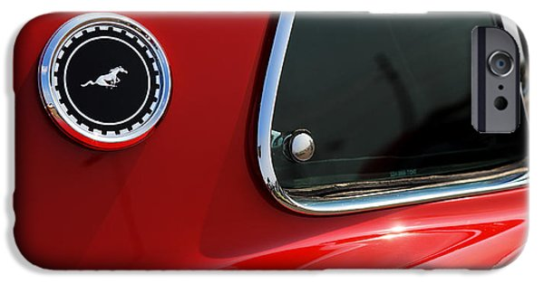 1964 Ford Emblem iPhone Cases - 1969 Ford Mustang Mach 1 iPhone Case by Gordon Dean II
