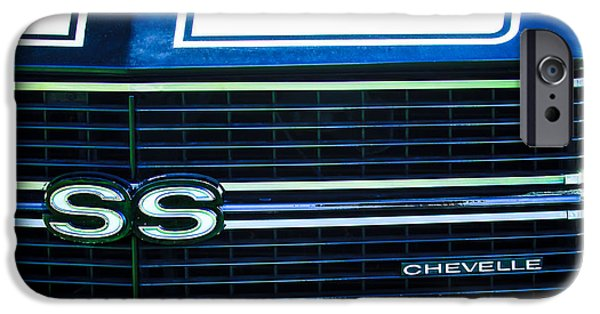 1970 iPhone Cases - 1970 Chevrolet Chevelle SS Grille Emblem iPhone Case by Jill Reger