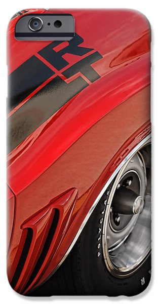 Woodward iPhone Cases - 1970 Dodge Challenger R/T iPhone Case by Gordon Dean II