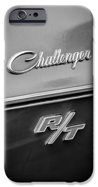 1970 Dodge Challenger RT Convertible Emblem iPhone Case by Jill Reger