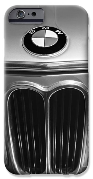 1972 iPhone Cases - 1972 BMW 2000 TII Touring Grille Emblem iPhone Case by Jill Reger