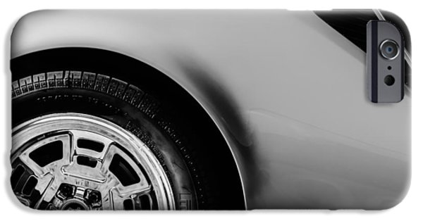 1972 iPhone Cases - 1972 DeTomaso Pantera Wheel iPhone Case by Jill Reger