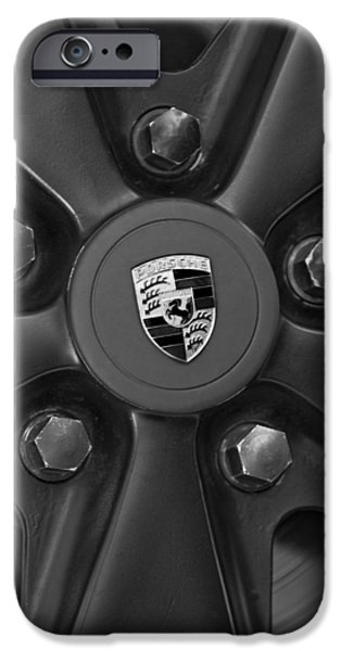 1980 iPhone Cases - 1980 Porsche 911SC Targa Wheel Emblem iPhone Case by Jill Reger