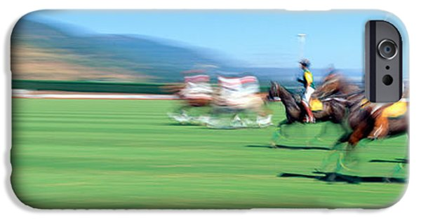 Quick iPhone Cases - 1998 World Polo Championship, Santa iPhone Case by Panoramic Images