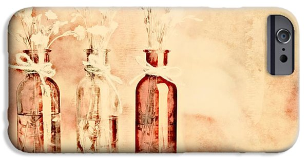 Pinkish iPhone Cases - 1-2-3 Bottles - r9t2b iPhone Case by Variance Collections