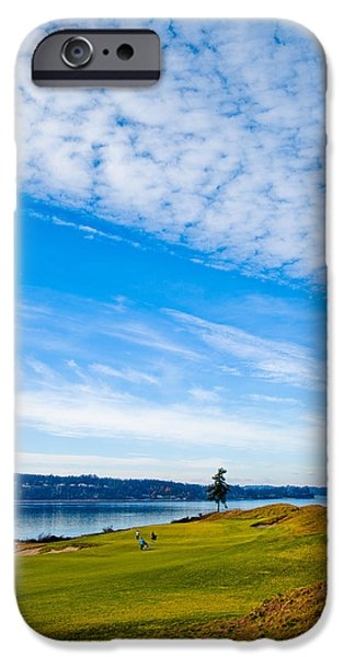 #2 at Chambers Bay Golf Course - Location of the 2015 U.S. Open Tournament iPhone Case by David Patterson