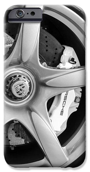 2005 iPhone Cases - 2005 Porsche Carrera GT Emblem iPhone Case by Jill Reger