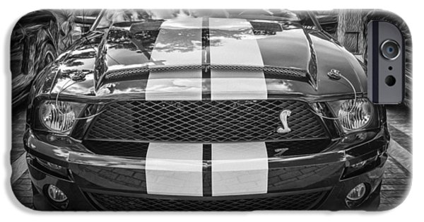 2007 iPhone Cases - 2007 Ford Mustang Convertible BW  iPhone Case by Rich Franco