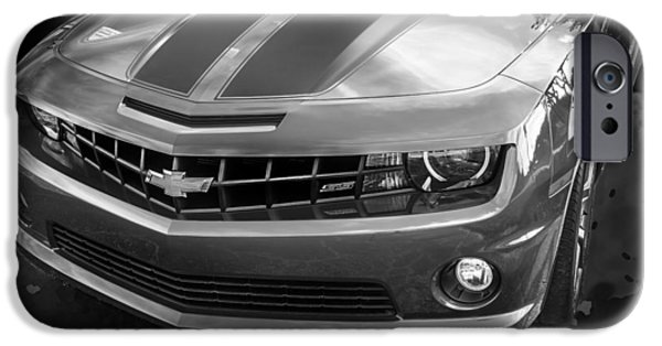 Recently Sold -  - Technology iPhone Cases - 2012 Chevy Camaro SS BW  iPhone Case by Rich Franco