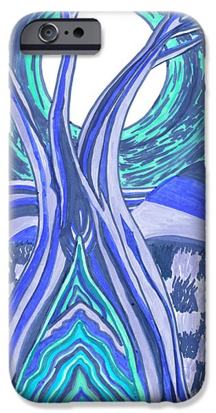 Monotone Drawings iPhone Cases - 4am iPhone Case by Nicole Scott