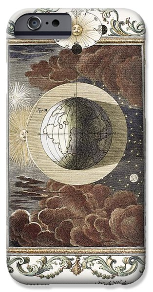 Creationism iPhone Cases - 4th Day Of Creation, Scheuchzer, 1731 iPhone Case by Paul D. Stewart