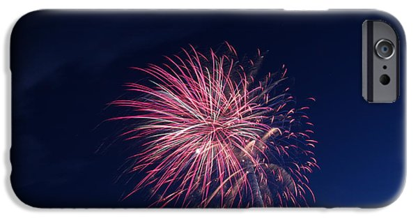 Independance Day iPhone Cases - 4th of JulyFireworks Colechester VT iPhone Case by Barretreasures Photography