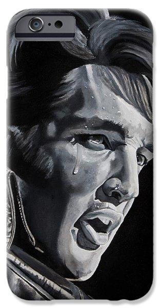 Elvis Presley Paintings iPhone Cases - 68 Comeback iPhone Case by Brian Broadway