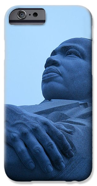 Cora Wandel iPhone Cases - A Blue Martin Luther King - 1 iPhone Case by Cora Wandel