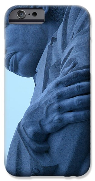 Cora Wandel iPhone Cases - A Blue Martin Luther King - 2 iPhone Case by Cora Wandel