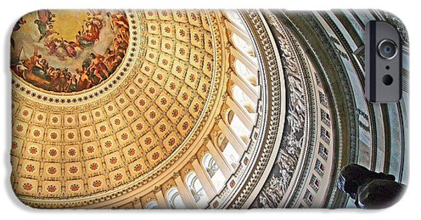 Cora Wandel iPhone Cases - A Capitol Rotunda iPhone Case by Cora Wandel