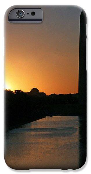 Cora Wandel iPhone Cases - A Capitol Sunrise iPhone Case by Cora Wandel