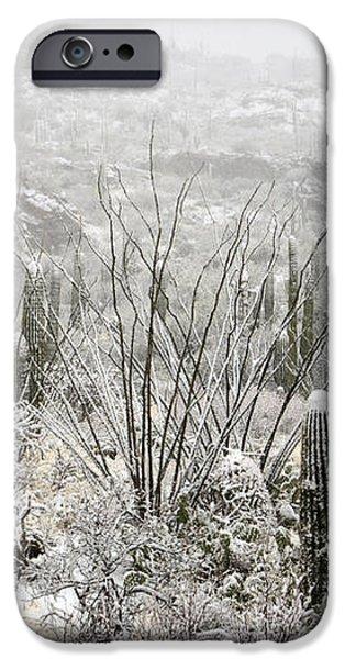 A Desert Snow Day  iPhone Case by Saija  Lehtonen