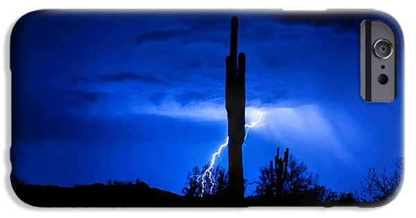 Natural Forces iPhone Cases - A Desert Storm  iPhone Case by Saija  Lehtonen
