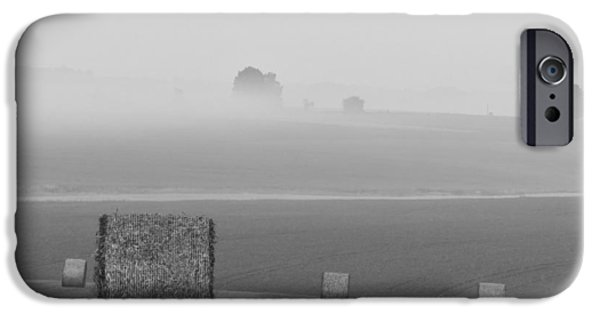Fog Mist iPhone Cases - A Farmers Morning Welcome iPhone Case by Mountain Dreams