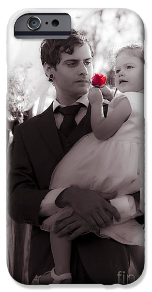 Bridegroom iPhone Cases - A Fathers Love For His Daughter iPhone Case by Ryan Jorgensen
