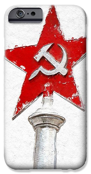 Hammer Paintings iPhone Cases - A New Star is born iPhone Case by Stefan Kuhn