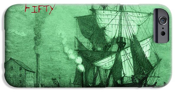 Pirate Ships iPhone Cases - A Pirate Looks At Fifty iPhone Case by John Stephens